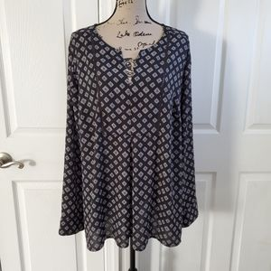 Lane bryant diamond pattern long sleeve top 22 24